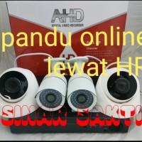 PAKET CAMERA CCTV 4 CHANNEL 4MP FULL HD ( KOMPLIT TGGL PSG BRO )