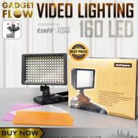 Lampu Video Light Kamera DSLR 160 LED Lighting VLOG Fotografi Taffware