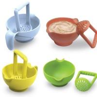 BabySafe food masher mangkuk bayi pelumat makanan bayi masher bowl
