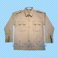 Kemeja / Baju Seragam Sekolah SD Pramuka Penggalang Panjang Famatex