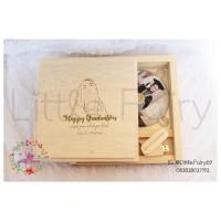 flashdisk kayu box + dvd free grafir 16gb