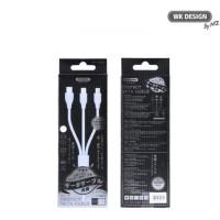 Remax WK Design Kabel Data Cable 3in1 Perfect WDC-061 White Original