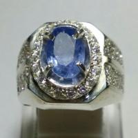 Cincin Batu Blue Safir Ceylon Asli Sri Lanka Murah