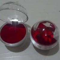 Kotak cincin akrilik Besar kotak penyimpanan cincin transparan single