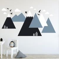 Wall Sticker Scandinavian 240 x 120 cm Hiasan Dinding Dekorasi Rumah