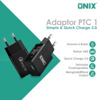 Onix Adaptor Charger PTC-01 - Support Qualcomm QC 3.0 -Tokocabang
