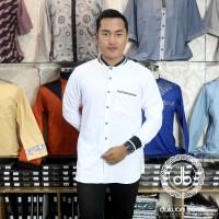 Baju Pria Muslim Kemeja Koko / Kemeja Polo Casual Terbaru !!! - Putih