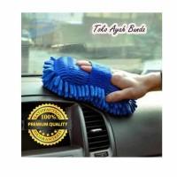 Spons Cuci Mobil Microfiber / Sponge Cendol Pembersih Pengering Mobil