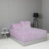 King Rabbit Seprai Size Queen 160x200 cm Motif Lingling Pink