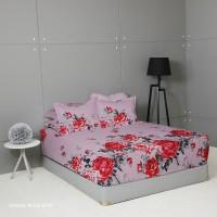 King Rabbit Seprai Size Queen 160x200 cm Motif Shang Rose Pink