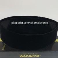 Peci Hitam Polos AC WADIMOR Songkok Tinggi 9 ECERAN - Tinggi Sepuluh, Size 6