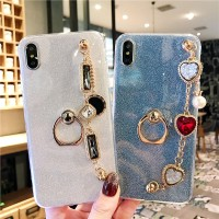 Glitter Casing Samsung Galaxy S5 S6 S7 Edge S8 S9 Plus Ring Bracelet