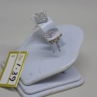 anting tusuk kotak emas putih perhiasan mas kadar 75% original 5