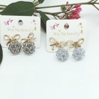 anting fashion pita crystal
