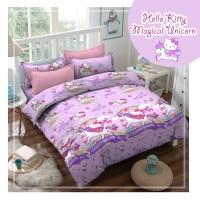 Bed Cover Set Anak Motif Hello Kitty Magical Ungu Uk.100 x 200 x 25 cm