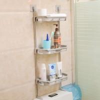 Rak Kamar Mandi 3 Susun Stainless Toilet WC Kloset Peralatan Mandi