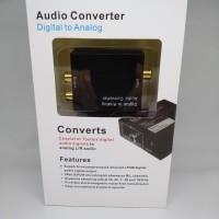 Digital to Analog Audio Converter Optical Tv Toslink to analog RCA