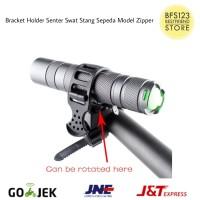 Bracket Holder Senter Swat Stang Sepeda Model Zipper