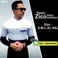promo Zico Navy Pakaian Baju Sweater Rajut Korea Pria Lengan Panjang
