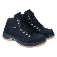 Sepatu Gunung Pria Sepatu Boots Hiking Kulit Asli Murah Hitam RI 612