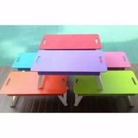 Meja Lipat Warna untuk Laptop atau Belajar anak