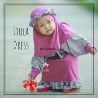 Fiola dress - Gamis Anak Perempuan Kekinian - Baju Muslim Balita 1-2th