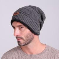 1C98 Song Ting Kupluk Wool Winter Beanie Hat - Gray