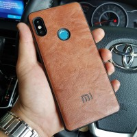 Softcase Premium Leather Xiaomi Redmi Note 6 Pro Casing Case Kulit - Cokelat