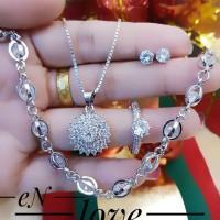 xuping set perhiasan lapis emas 24k 28016