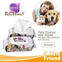 Tissue/Tisu Basah Lap Pembersih Pets Pounce BIOION Non Alcohol/Alkohol