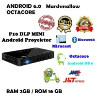 MINI SMART PROJECTOR DLP P10 ANDROID WIFI 6.0 OCTACORE 2GB/16GB 200INC