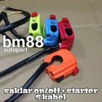 Saklar On/Off + Starter 5 Kabel - Bracket Stang