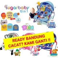 Sugar Baby Premium Rocker 10 in 1 , Kursi Goyang , Bouncer Bayi