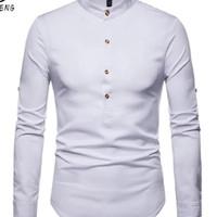 Baju Koko Pria Katun Twill Putih /Cream/black