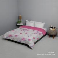King Rabbit Bed Cover Size Single 140x230 cm Motif Irish Pink