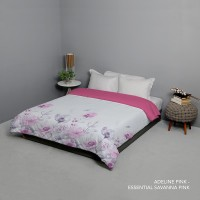 King Rabbit Bed Cover Size Single 140x230 cm Motif Adeline Pink
