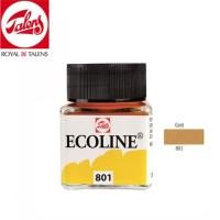 Royal Talens Ecoline Liquid Watercolour 30ml - GOLD 801