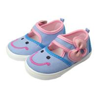 Sepatu Anak Bayi Perempuan Trendy Bahan Sol Lembut Model Denim Lucu