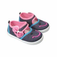 Sepatu Anak Bayi Perempuan Denim Jeans Model Casual Lucu Murah