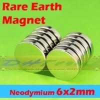 Strong Magnet Neodymium Silinder N52 Ukuran 6x2mm Super Kuat