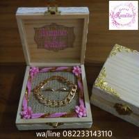 wedding ring box rustic kotak cincin dan gelang tunangan pernikahan