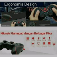 JUAL GAME PAD JOY STICK T3 BLUETOOTH WIRELESS CONTROL HP android IOS