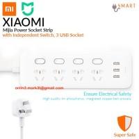 Xiaomi 3 USB plug 4 outlets power strip colokan listrik stop kontak
