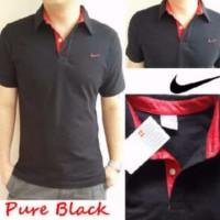 Nike Kerah Hitam / Polo Shirt Nike / Kaos Polo Pria