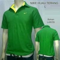 Nike Kerah Pria / Kaos Wangky Hijau Muda / Polo Shirt Nike