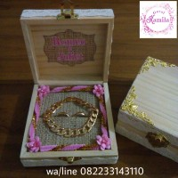kotak tempat cincin dan gelang ring box kayu rustic hantaran seserahan
