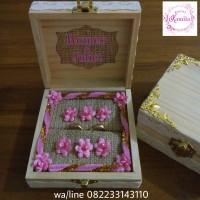 kotak tempat box perhiasan rustic buat mahar cincin kawin tunangan