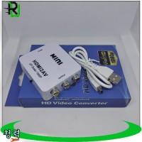 HDMI to RCA AV Box Konverter Up Scaler 1080p Full HD
