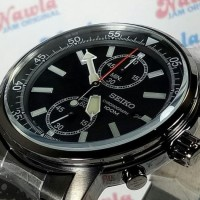 Seiko Marine Sports SNN229P1 Chrono Full Black - Jam Pria SNN229