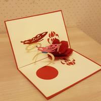 Kartu Ucapan 3D - Flower & Butterfly